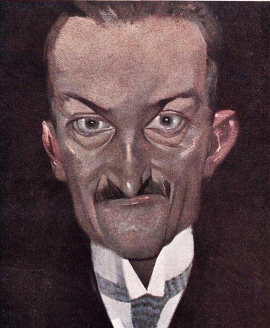 Caricatura Zuviría hecha por Alonso (1916).