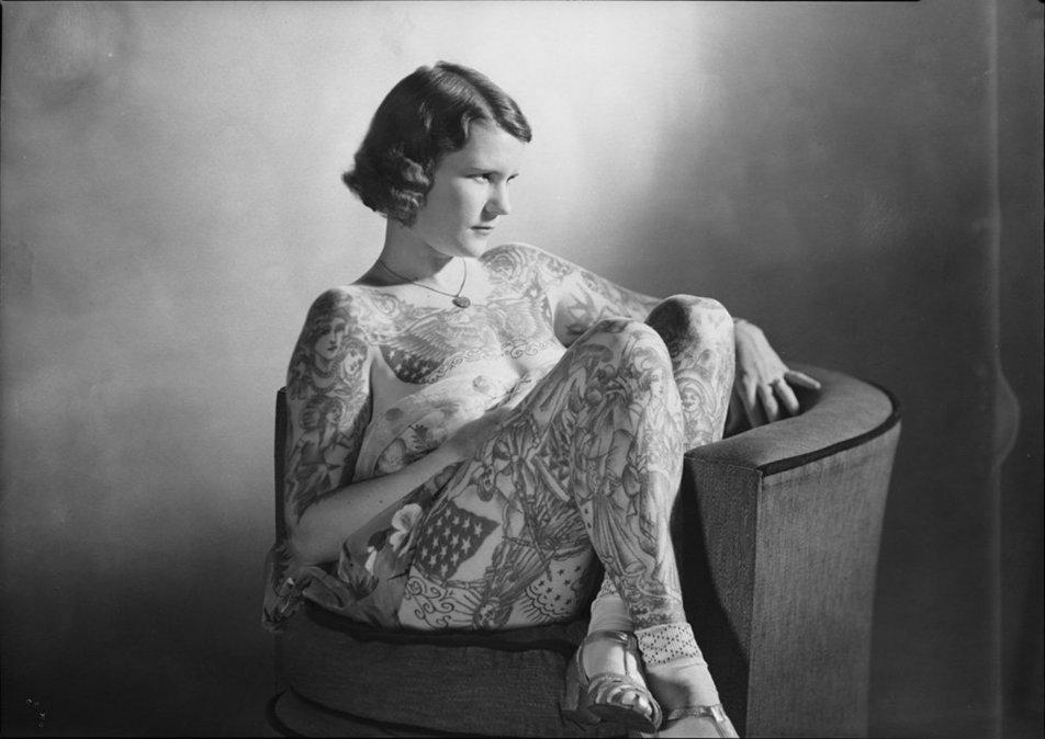 Betty Broadbent, pionera en los tatuajes femeninos de los años 30