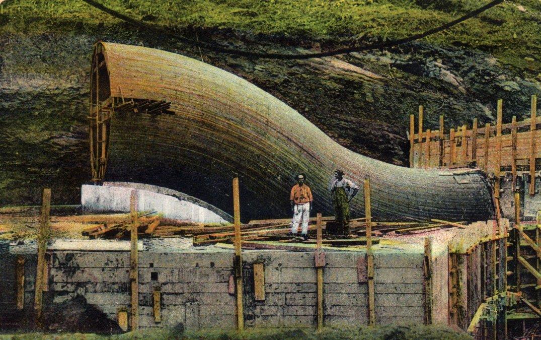 El canal de Panamá en construcción.