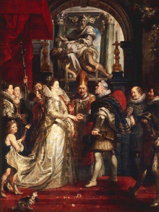 María de Médici yEnrique IV de Franciase casaron el17 de diciembrede1600.