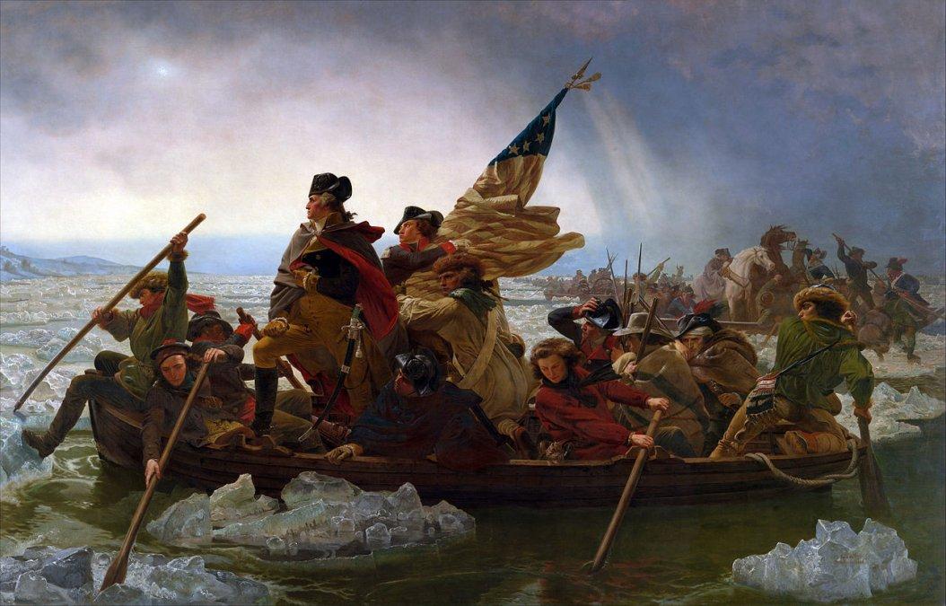 Washington cruzando el Delaware(1851) porEmanuel Leutze.