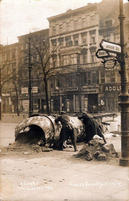 La revuelta de los espartaquistas en Alemania