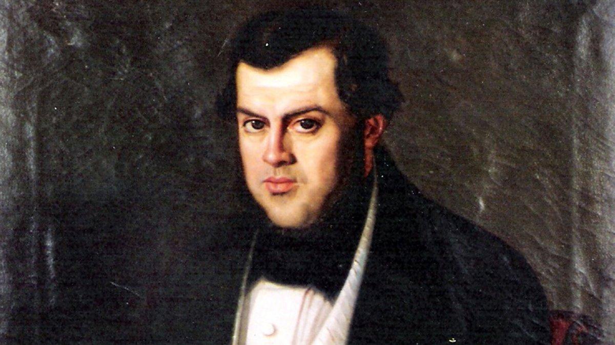 Sarmiento en 1845 retratado porBenjamín Franklin Rawson.