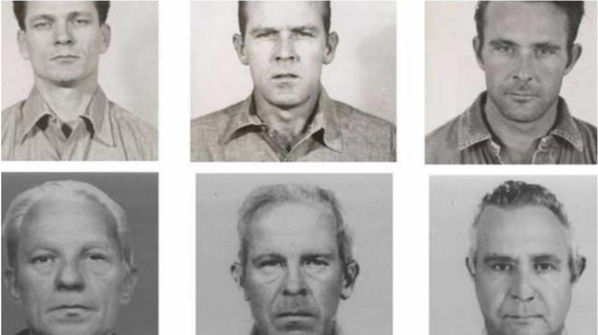 Fotos de los fugitivos antes y después de salir de Alcatraz.