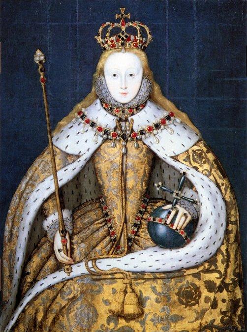 Retrato de Isabel en su coronación.
