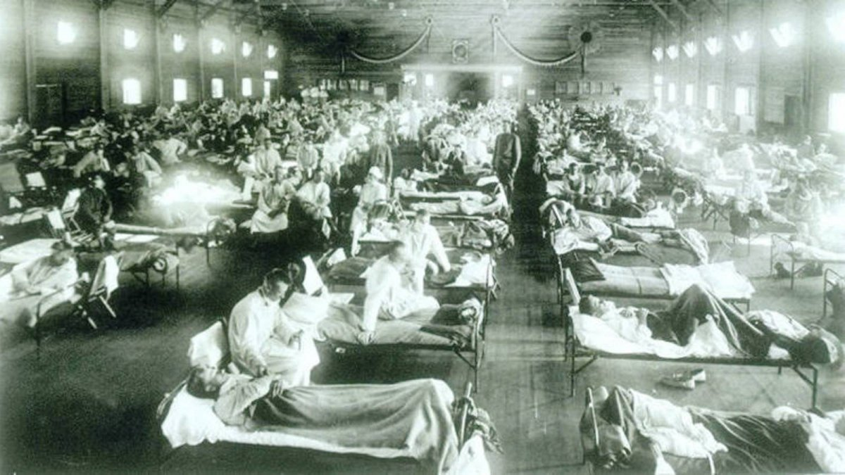 La pandemia de la gripe española infectó a 500 millones de personas entre 1918 y 1920 y causó de 20 a 50 millones de muertos.