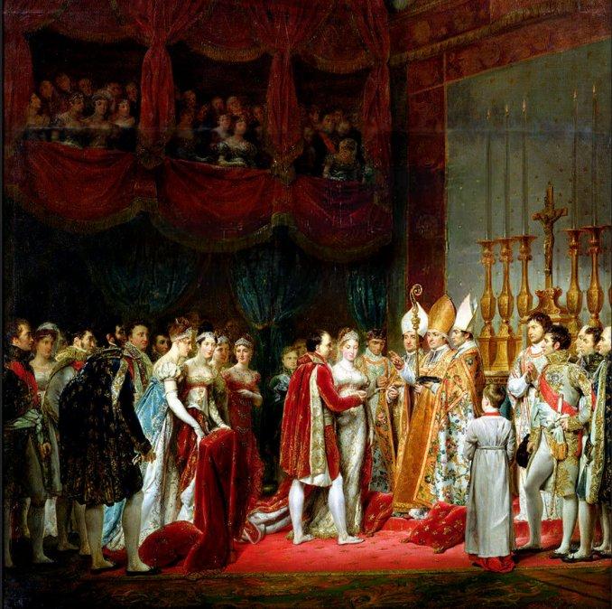 Matrimonio deNapoleóny María Luisa de Austria.