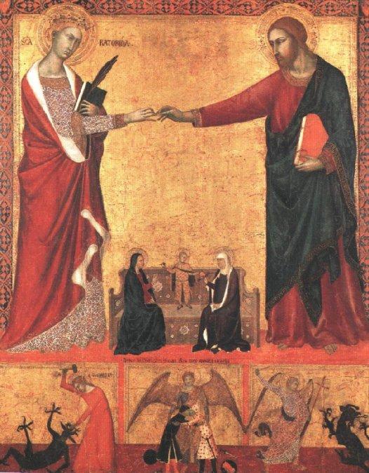 1512El matrimonio místico de Santa Catalina de Siena.Barna da Siena