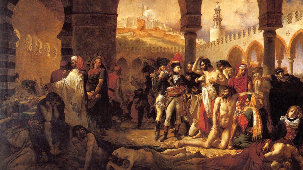 Visita de Napoleón a los apestados en Jaffa (1804)