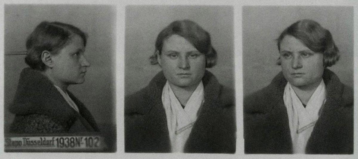 Ficha policial de la Gestapo de Luise Vögler