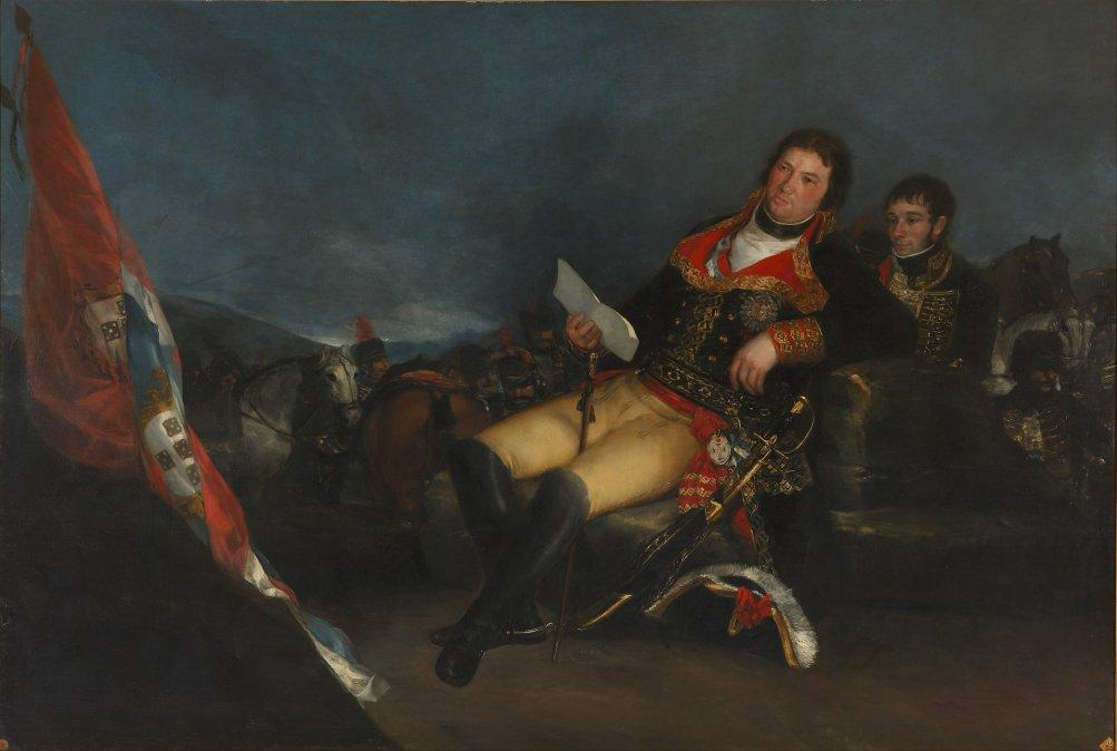 Manuel Godoy retratado como vencedor de la guerra de las Naranjas