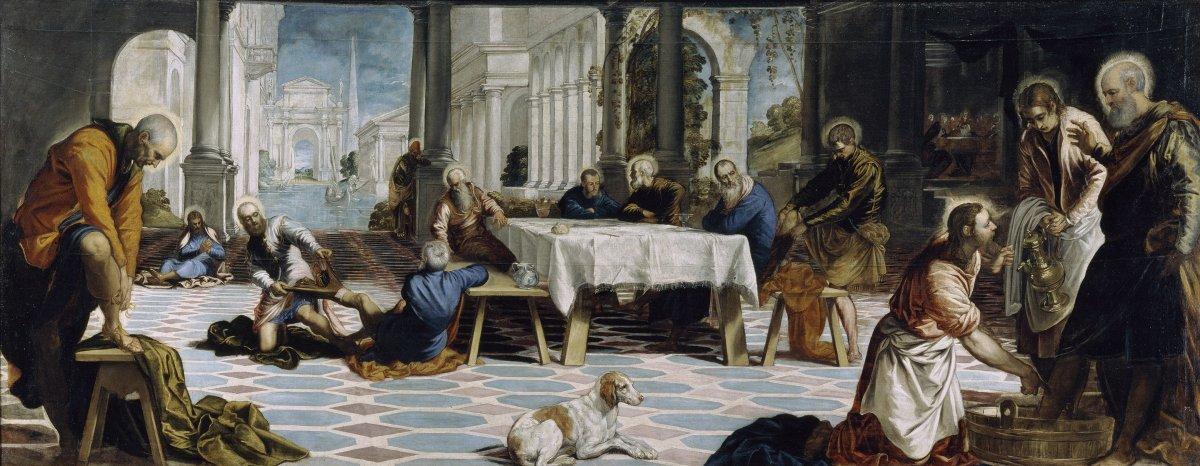 La obraEl lavatorioes una de las piezas más importantes de Tintoretto.
