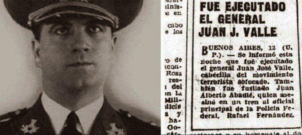El fusilamiento del general Juan José Valle