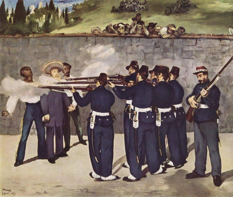 La ejecución del Emperador Maximilianopor el pintor francés Édouard Manet