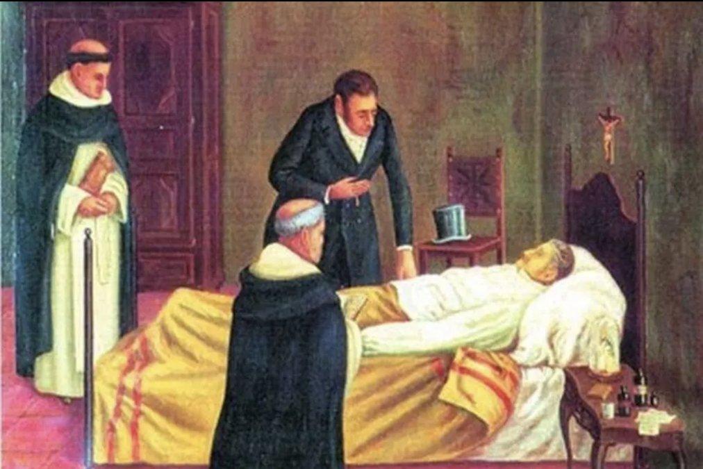 El prócer asistido por médicos británicos