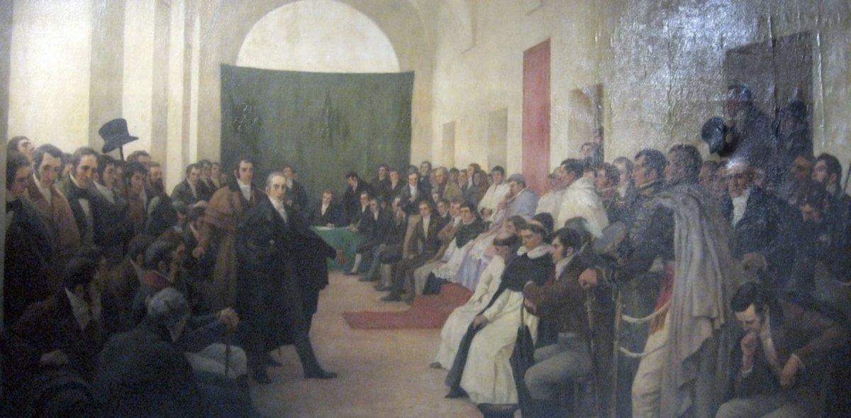 Cabildo Abierto del 22 de mayo de 1810. Reproducción pictórica.