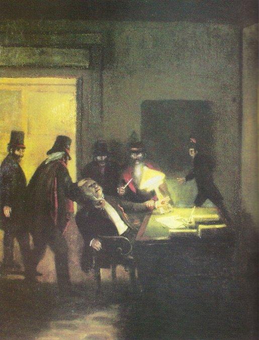 Asesinato de Manuel Vicente Maza. Óleo del artistaPrilidiano Pueyrredón.Museo Nacional de Bellas Artes. Ciudad de Buenos Aires.