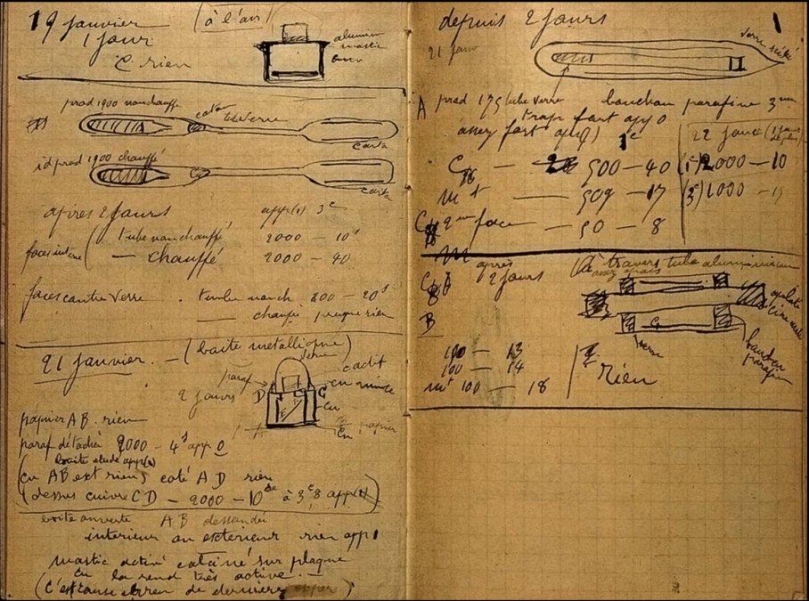 El letal cuaderno de Marie Curie que puede matarte con el mero contacto incluso 100 años después