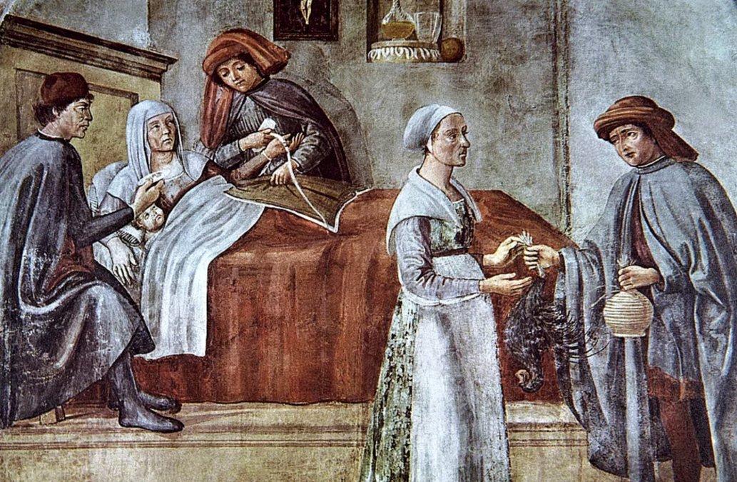 Pintura florentina del siglo XV dedicado a la Medicina