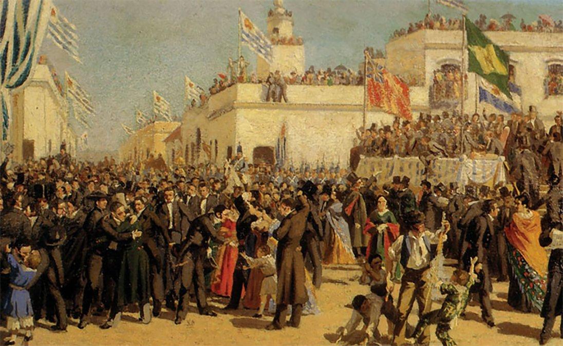 Boceto para la Jura de la Constitución de 1830