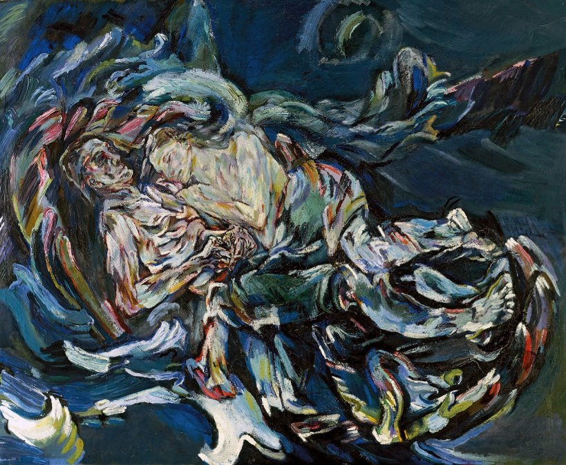 Dos desnudos: los amantes - Oskar Kokoschka - 1913