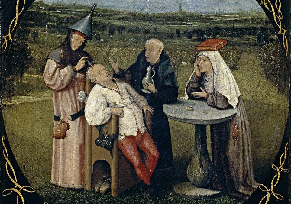 La piedra de la locura • El Bosco (Hieronymus Bosch) • 1475 • Museo Nacional del Prado