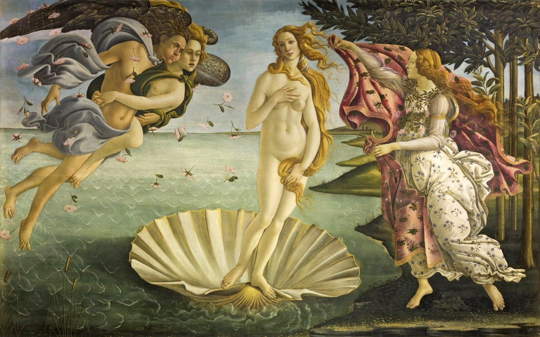 1484/86 - El nacimiento de Venus- Sandro Botticelli - Galleria Degli Uffizi - Florencia