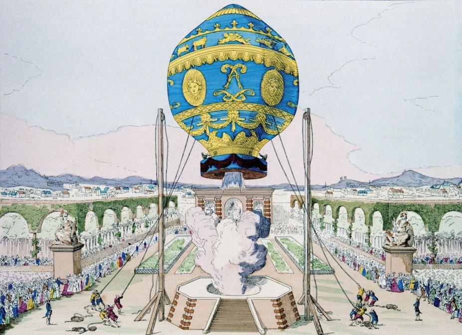 Los hermanos Montgolfier, los creadores del globo aerostático