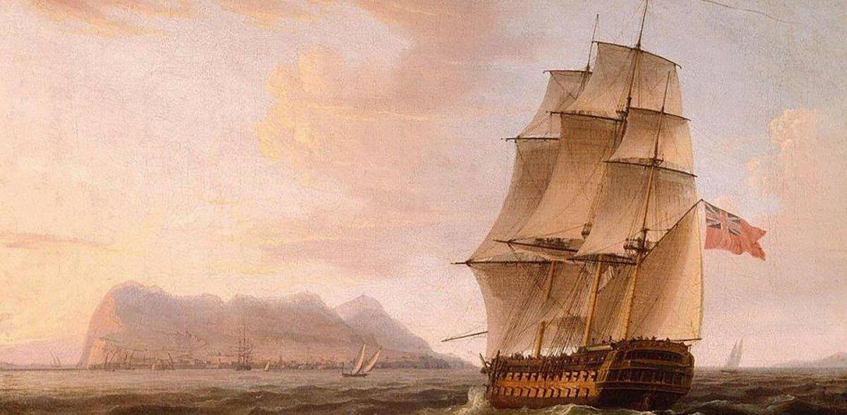 Un barco británico frente al Peñón. (Gibraltar barco británico)