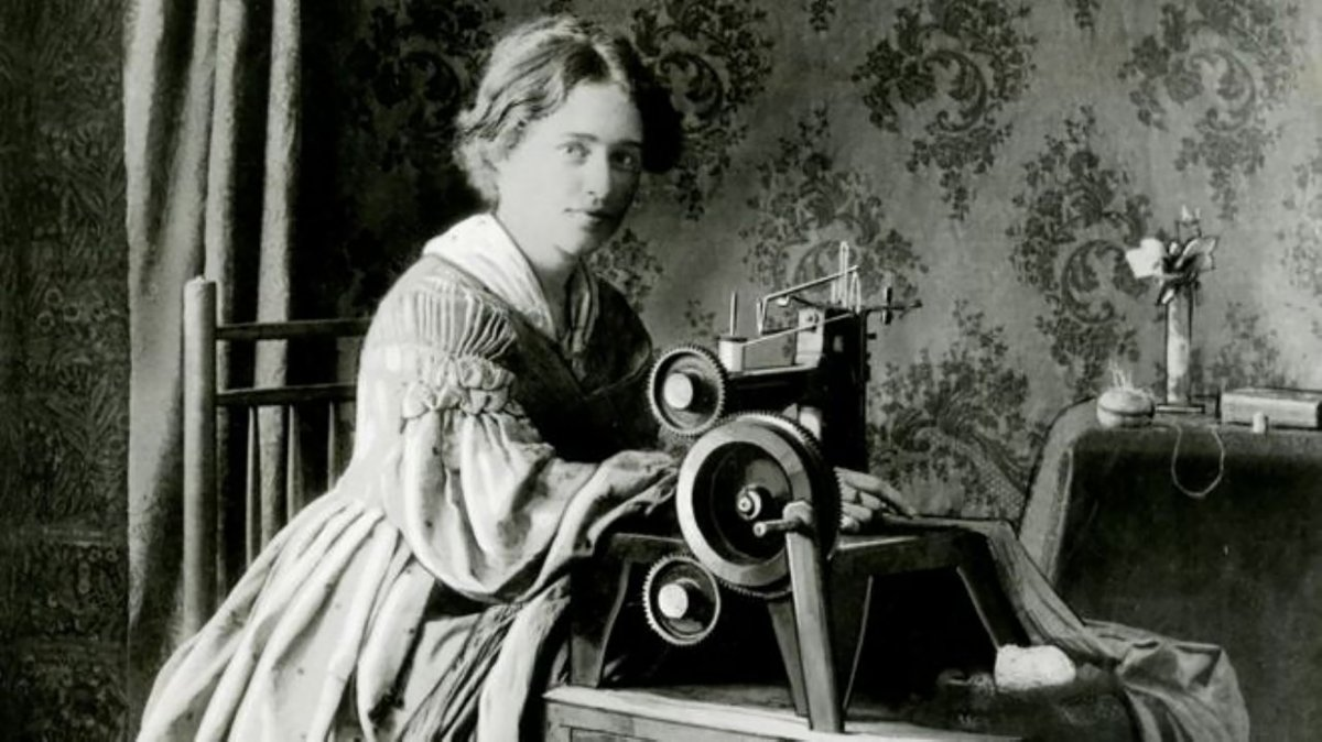 Anuncio para la patente de la máquina de coser Singer