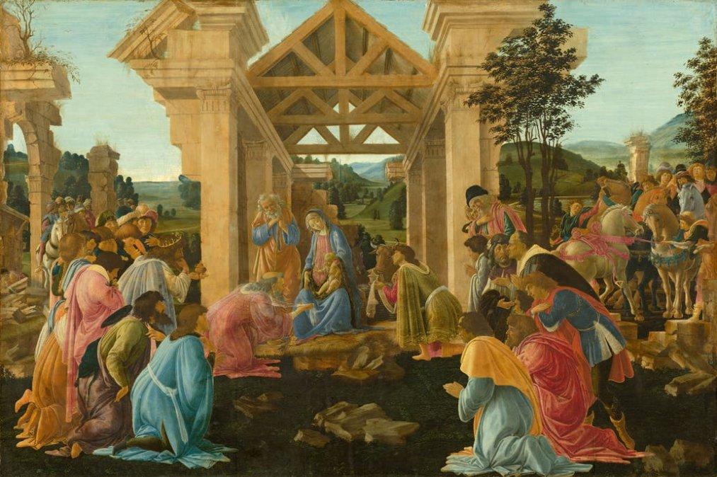 La adoración de los reyes magos de Sandro Botticelli