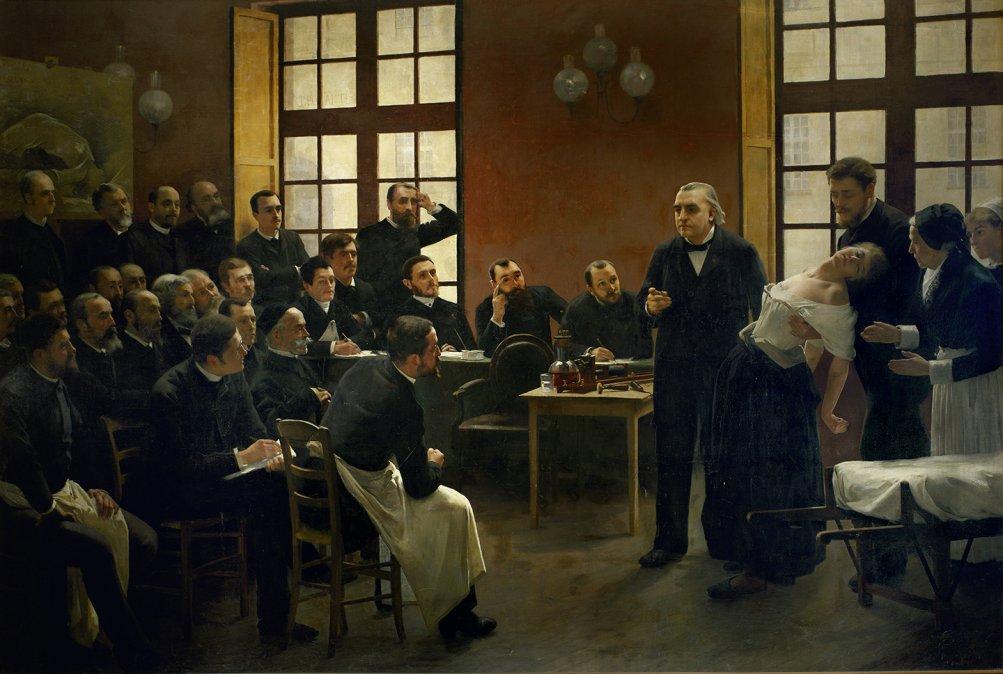 Una lección sobre histeria por Jean Martin Charcot • André Brouillet • 1887 • Museo de la Facultad de Medicina