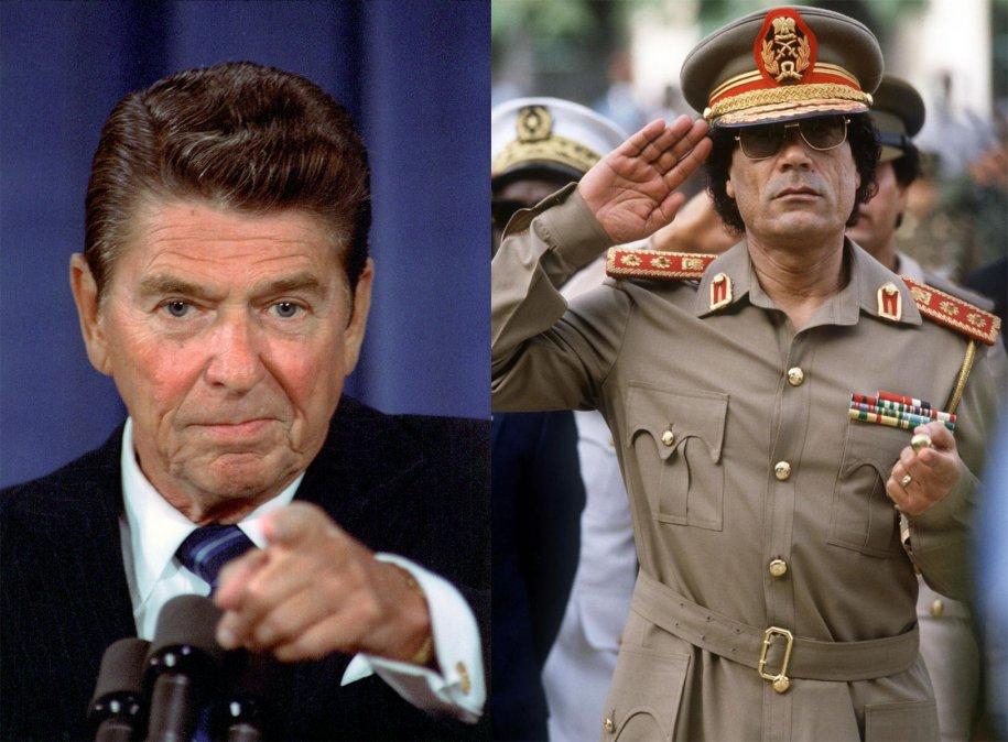 Reagan contra Khadaffi, y viceversa
