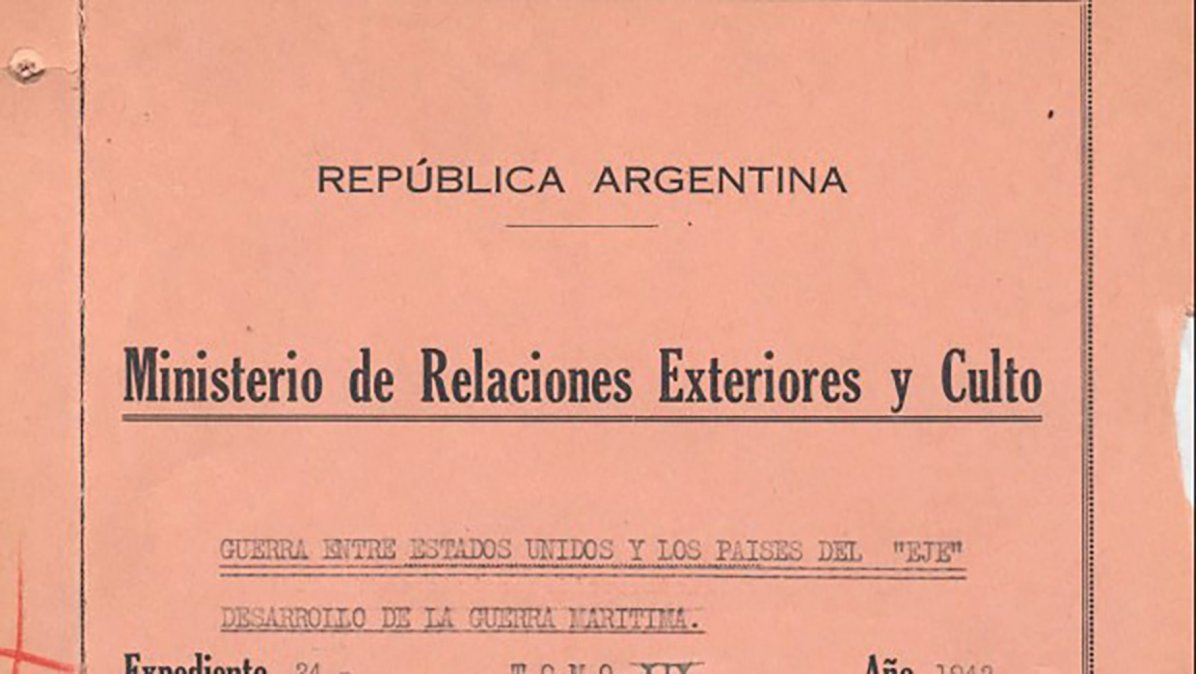 Tapa del expediente del MRE que contiene los documentos de esta historia.