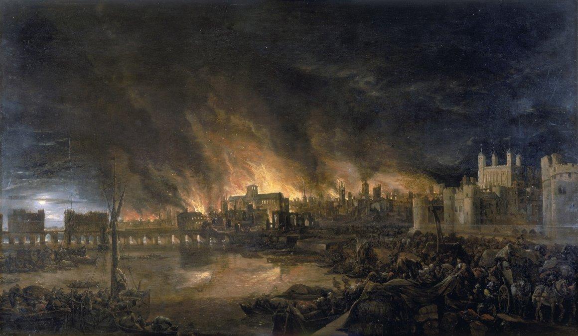 El Gran Incendio de Londres de 1666, o cómo el fuego acabó con una epidemia de peste interminable