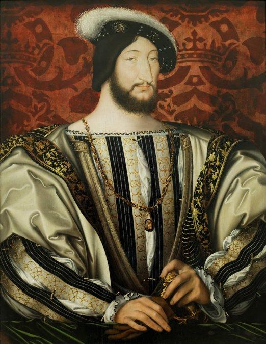 Retrato de Francisco I de Francia. Hecho por Jean Clouet