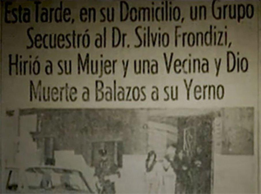 Noticia de la muerte de Silvio Frondizi