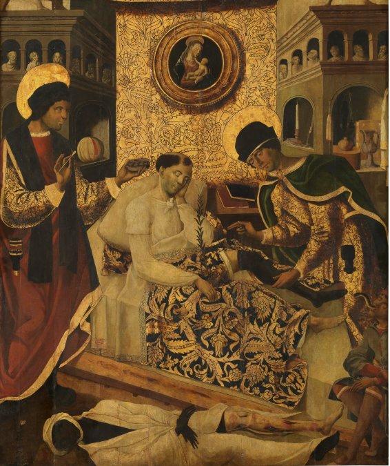 Milagros de los santos médicos Cosme y Damián • Fernando del Rincón • Siglo XV • Museo Nacional del Prado