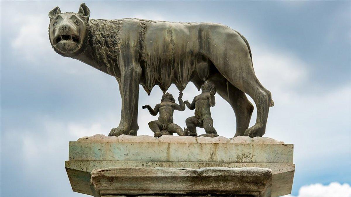 Rómulo y Remo los míticos fundadores de Roma.