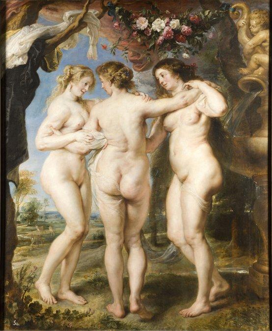 Las tres gracias (1630) - Pieter Pablus Rubens - Museo del Prado