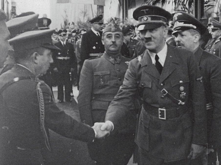 Franco y Hitler en Hendaya: España aceptó entrar en la guerra