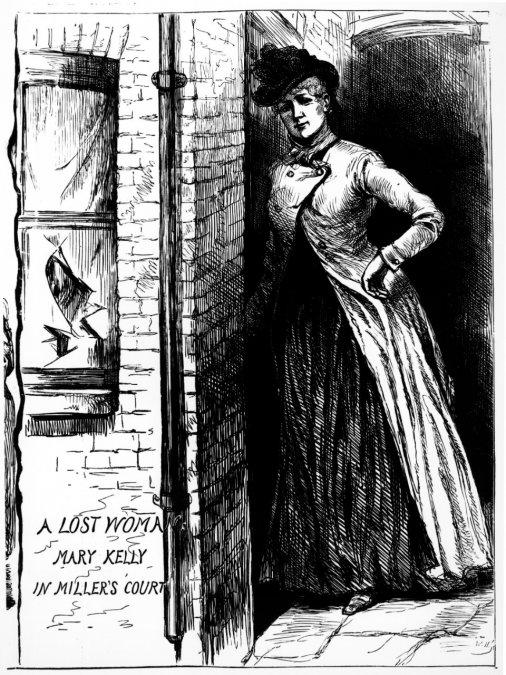 Dibujo de Mary Jane Kelly en el periódico Penny Illustrated Paper (24 de noviembre de 1888)