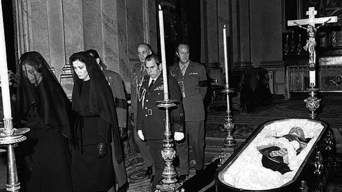 Funeral de Franco en la capilla de El Pardo