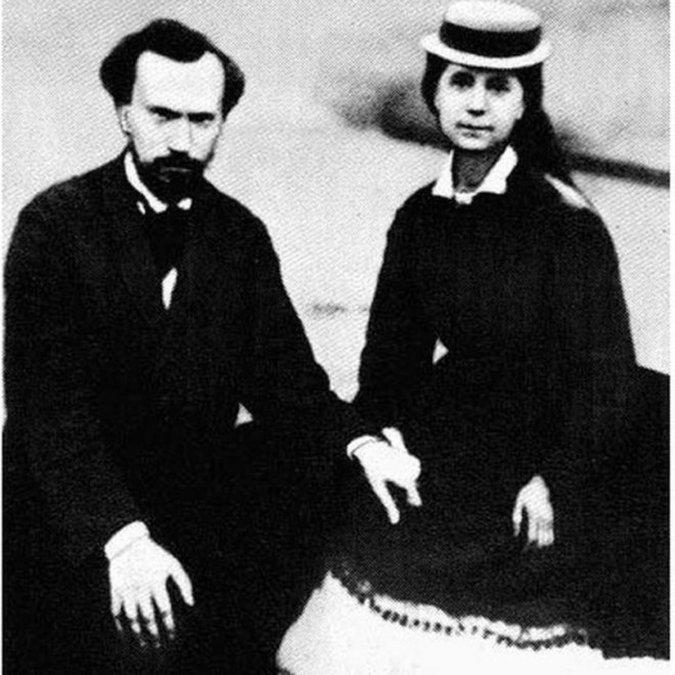 Paul Lafargue y Laura Marx estuvieron casados por más de 40 años.