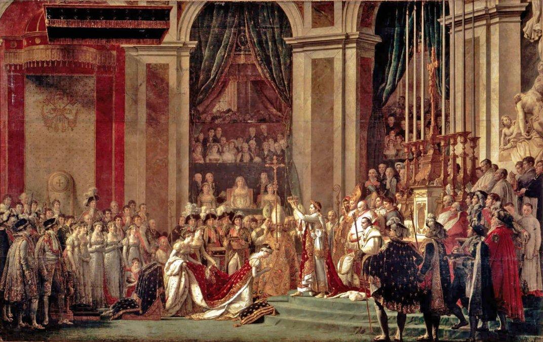El cuadro debía representar la coronación de Napoleón