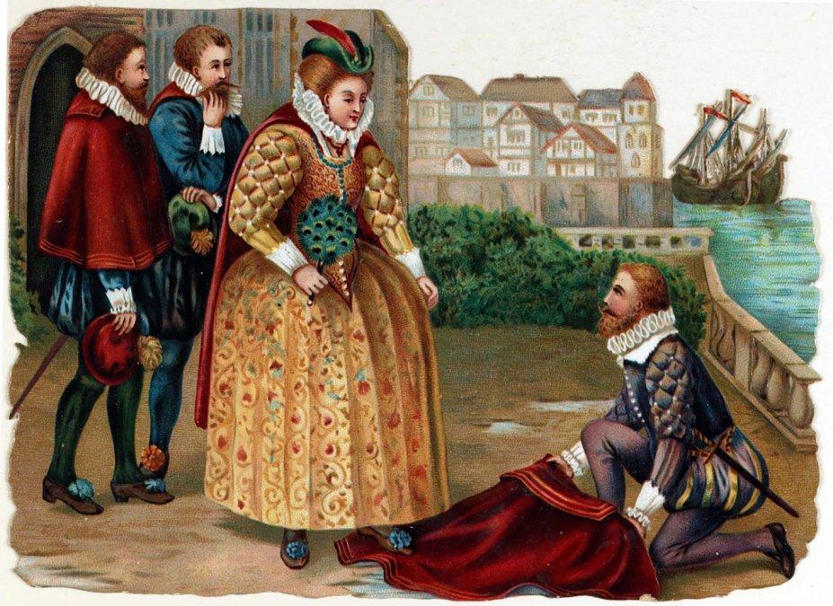Sir Raleigh era un ferviente servidor de la reina Isabel I de Inglaterra.