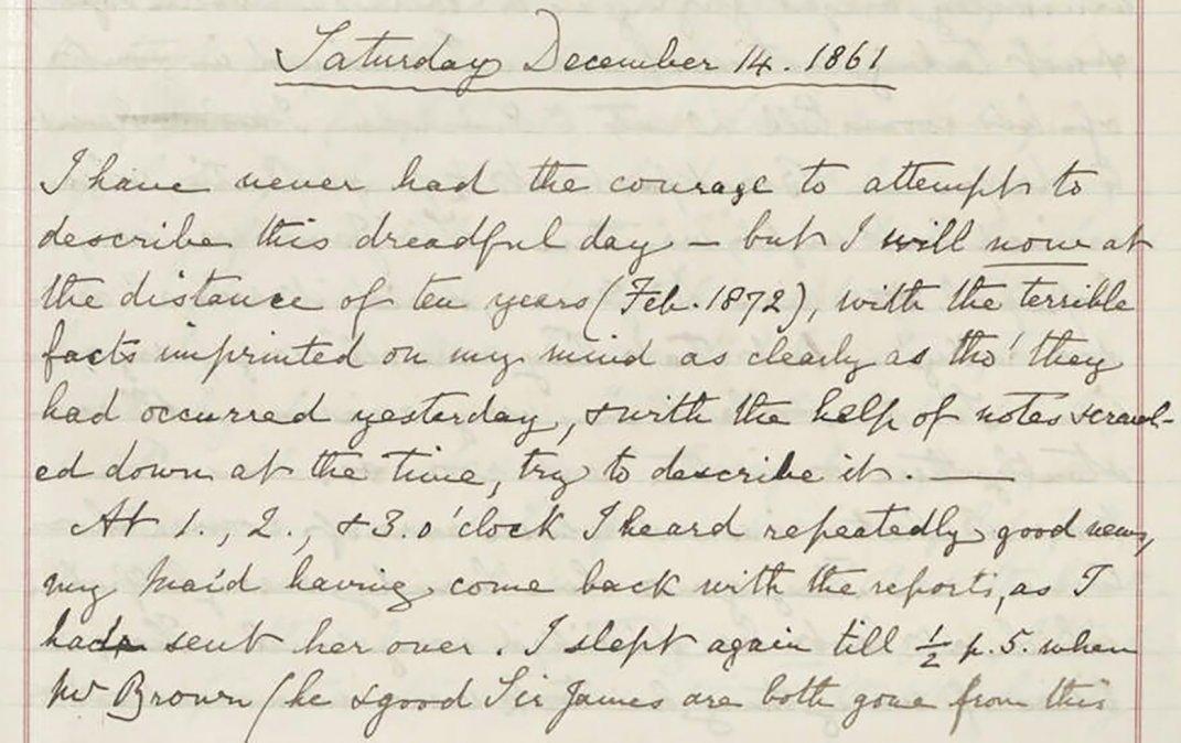 Los desgarradores escritos de la reina Victoria sobre la muerte de su consorte