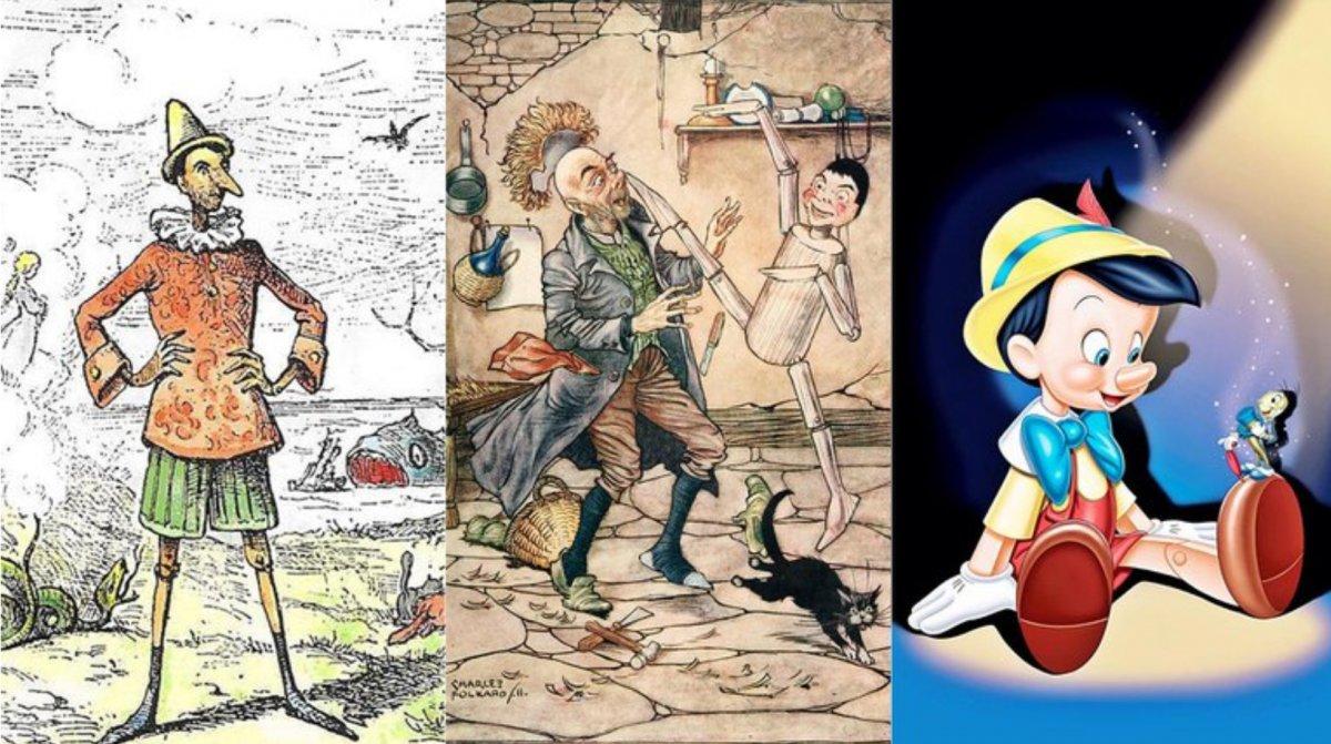 Tres versiones de Pinocho: Enrico Mazzanti (1881)