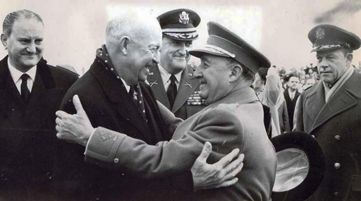 La devoción oculta de Eisenhower, el gran héroe de la IIGM, por Franco y su experiencia militar