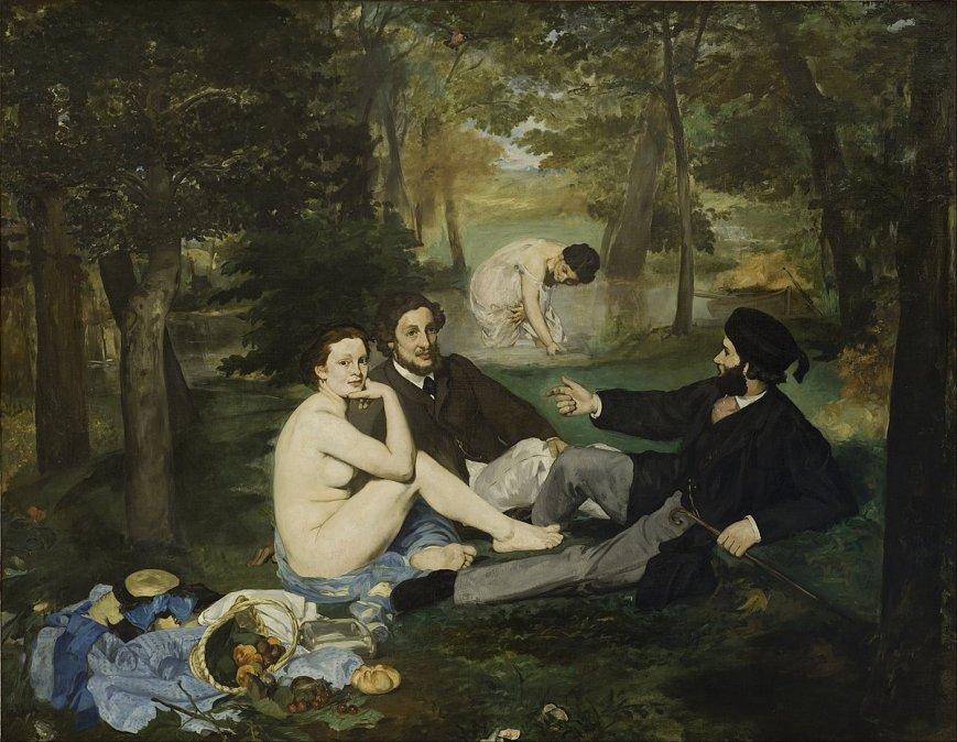 1862/63 - Desayuno en la hierba - Edouard Manet - Museo de Orsay. París.